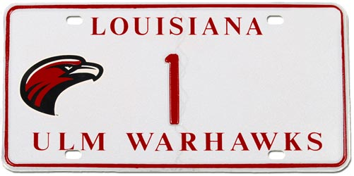 ULM Prestige License Plate